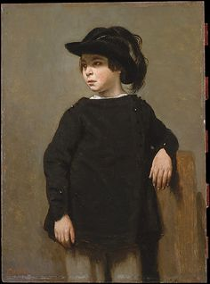 """""""Portrait of a Child"""" by Camille Corot (1835) at the Metropolitan Museum of Art, New York - From the curators' comments: """"This work was once thought to be a portrait of the painter Rosa Bonheur (1822–1899) as a child, but it seems to represent a boy. Corot's portraits were limited to friends and members of his family, but thus far the figure remains unidentified."""""""
