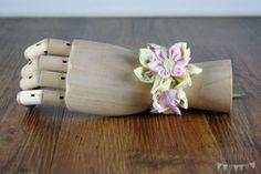 "Armband Kanzashi ""Amy"" Napkin Rings, Amy, Wedding, Home Decor, Accessories, Host Gifts, Armband, Mariage, Homemade Home Decor"