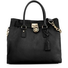 MICHAEL Michael Kors Hamilton Tote with Gold Hardware found on Polyvore