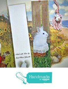 Cute White Bunny Rabbit in a Basket Hare Easter Bookmark w/ Bunny Bell Charm Fine Art Photography Photo Laminated Handmade Bookmark from JWPhotography Gallery http://www.amazon.com/dp/B0189ZWPYG/ref=hnd_sw_r_pi_dp_FH.ywb0FC1GEQ #handmadeatamazon