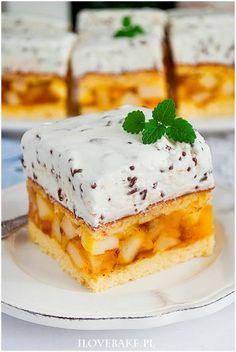 Wyszukiwałeś Jabłecznik straciatella - I Love Bake German Desserts, Sweets Cake, Homemade Cakes, Cute Food, Themed Cakes, Sweet Recipes, Cheesecake, Dessert Recipes, Food And Drink