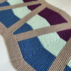 Wedges Wrap - knitting pattern by Knitting and so on