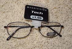 ecef90e578cc Magnivision Readers Tech Reading Glasses Titanium +1.00 NWT  33  28 Retail  JB  Magnivision