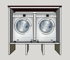 As promised, below are the step by step instructions on how to build a washer and dryer pedestal with surround.  Please ask any questions in the comments section below the post and I will be s…
