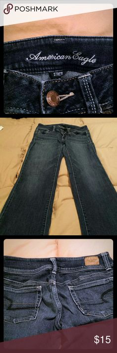 American Eagle jeans Size 4, slim boot. Lil wear on back hem American Eagle Outfitters Jeans Boot Cut