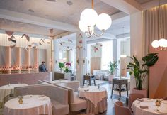 Pastel palette for Odette, french restaurant in Singapore