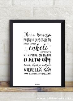 Finnish Words, Always On My Mind, Kids Songs, Christening, Letter Board, Hand Lettering, Best Quotes, Texts, Christmas Cards
