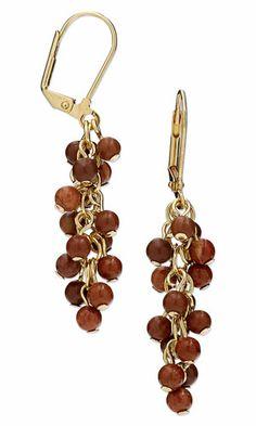 Earrings with Red Jasper Gemstone Beads