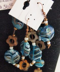 Aqua Waves Set  Matching Necklace Earrings and by MyShopOnly