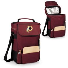 The Washington Redskins Duet Wine Tote from Picnic Time is great for bringing a couple bottles of wine to a Redskins tailgate or homegate party.