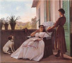 Odoardo Borrani | 1833-1905, Italy | Le primizie / The First Fruits