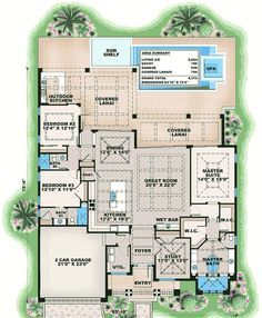 Dramatic Florida House Plan - 66363WE | 1st Floor Master Suite, Beach, Butler Walk-in Pantry, CAD Available, Den-Office-Library-Study, Florida, Luxury, Modern, PDF, Split Bedrooms | Architectural Designs