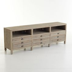 W6926 Reclaimed Pine Entertainment Console Console Tables