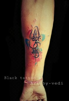 Om trishul tattoo