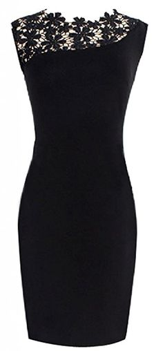 Women Lace Stretch Clubwear Cocktail Evening Party Bodycon Pencil Dress