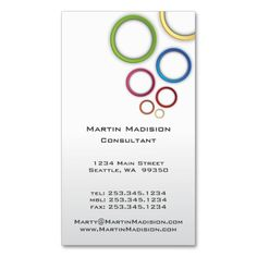 Coffee espresso shop business cards many monogram styles to choose minimalist color rings consultant business cards reheart Choice Image