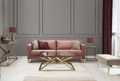 Dekoria,+Subtle+Glamour Norsborg, Couch, Decoration, Breeze, Glamour, Velvet, Home Decor, Homes, Nice Asses