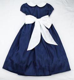 The Bailey Boys Navy Majesty Empire Dress - Girl/Pre-teen Girl