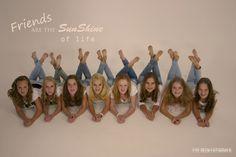 Groepsfoto van Anne-Lot en haar vriendinnen