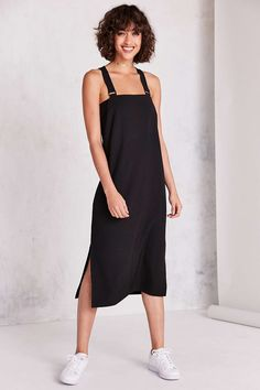 Silence + Noise Straight-Neck Jumper Midi Dress - Urban Outfitters