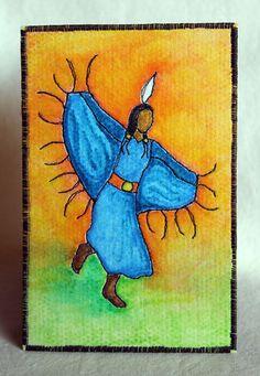 Native American Fancy Shawl Dancer Fabric by JPGstudio2536 on Etsy