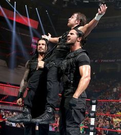 The Shield - Dean Ambrose, Roman Reigns and Seth Rollins - invade an episode of Raw