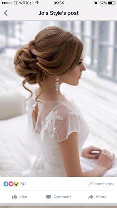 Ideas Wedding Hairstyles Updo Long Hair Pearl Flower For 2019 Hairdo Wedding, Short Wedding Hair, Wedding Hairstyles For Long Hair, Boho Hairstyles, Mod Wedding, Wedding Vintage, Vintage Hairstyles, Wedding Card, Trendy Wedding