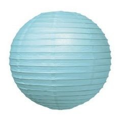 8 Lt Blue Paper Lantern by china. $2.25. great decoaration
