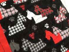 Great Scot  Thats My Scottie Dog  Twin Quilt by UglyDucklingStudio