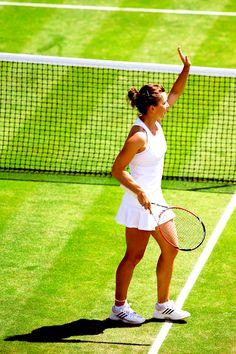 2014 Wimbledon Championships Second Round; Simona Halep def. Lesia Tsurenko 6-3, 4-6, 6-4 #WTA #Halep #Wimbledon