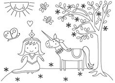 Unicorn princess- I would love a coloring book with her pictures.