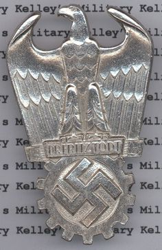 Frtiz Todt Prize Badge, 2nd Class - Silver