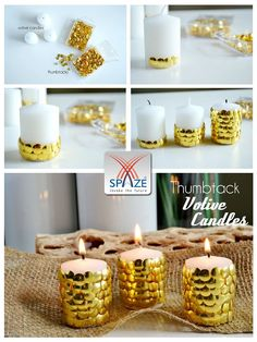 Ever thought you could make exquisite Diwali candles at home? DIY #Diwali Decor #SpazeGroup
