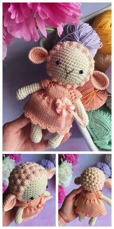 Amigurumi Sleeping Lamb Free Pattern – Free Amigurumi Patterns Crochet Sheep, Crochet Amigurumi Free Patterns, Easter Crochet, Cute Crochet, Crochet Animals, Crochet Crafts, Crochet Dolls, Crochet Projects, Sewing Crafts