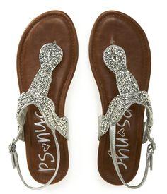 Kids' PSNYC Beaded Knot Sandals - PS From Aeropostale on Wanelo wedding flats