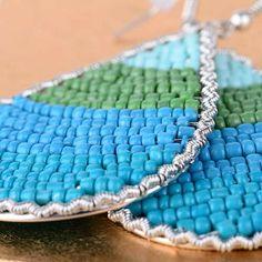 T Boutique Green & Blue Drop Earrings - bid tv