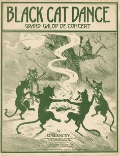 DeLancey, J. Black cat dance. New York: McKinley Music Co., 1916.: Page 1 of 4