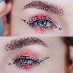 Edgy Makeup, Makeup Eye Looks, Eye Makeup Art, Crazy Makeup, Makeup Goals, Makeup Hacks, Eyeshadow Makeup, Makeup Inspo, Makeup Tips