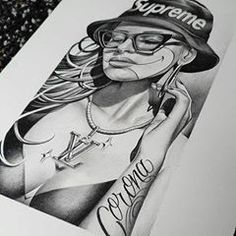 @mexicanstyle_art • Instagram photos and videos Sexy Drawings, Photo And Video, Portrait, Tattoos, Videos, Photos, Instagram, Art, Sexy Cartoons