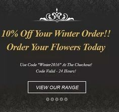 Celebrate the launch of our winter range with 10% off your orders!! #flowers #winter #ireland #irelandflowers #galway #picoftheday #dublin #follow #instagramers #instalike #instagram #instagood #celebrate