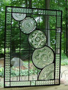 Crystal Cascade stained glass panel window by Barbarasstainedglass, $195.00