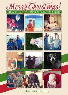 Instagram Christmas cards digital file you print by polkaprints ...