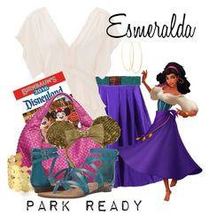 Esmeralda: Park Ready by laniocracy on Polyvore featuring polyvore mode style Rebecca Taylor Chicnova Fashion Blowfish Bottega Veneta Feather & Stone Lana Cocobelle Disney fashion clothing disneyland