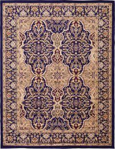 Navy Blue 10' x 13' Isfahan Design Rug | Area Rugs | Rugs.ca