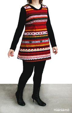 Ottobre (5/2012): Stitch Details -tunika Sanna Annukan Raanu-kuosista (Marimekko)