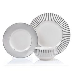 Vera Wang Wedgwood Dinnerware Simplicity Ombre Collection | Dinnerware Wedgwood and Casual dinnerware  sc 1 st  Pinterest : white and silver dinnerware sets - Pezcame.Com