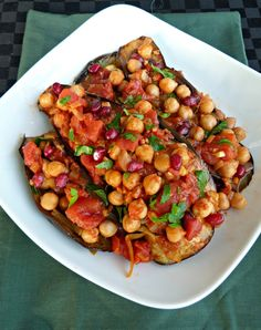 Eggplant, Chickpea & Pomegranate Stew -- Wake up the natural flavors in your food with Ac'cent #vegetarian #healthy #delicious