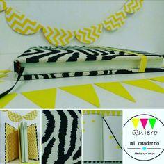 Cuaderno cebrado con amarillo