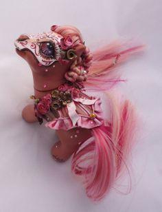 My little pony custom Dia de muertos Liliana by AmbarJulieta.deviantart.com on @deviantART