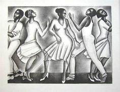 Elizabeth  Catlett - Dancing II